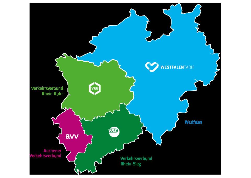 Tarifgebiete, Regionen & Preisstufen | Verkehrsverbund